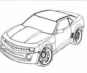 Free coloring and drawings Chevrolet Camaro model Coloring page