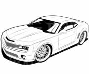 Free coloring and drawings Chevrolet Camaro Transformers movie Coloring page