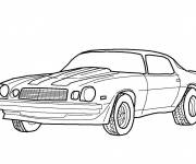 Free coloring and drawings Classic Camaro Coloring page