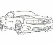 Coloring pages Easy Camaro