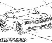 Coloring pages New Chevrolet Camaro model