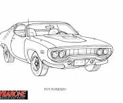 Coloring pages Old Chevrolet Camaro