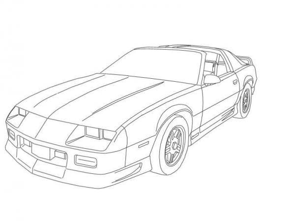 Free coloring and drawings Powerful Camaro Z28 Coloring page