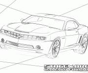 Free coloring and drawings Stylized Chevrolet Camaro SS Coloring page