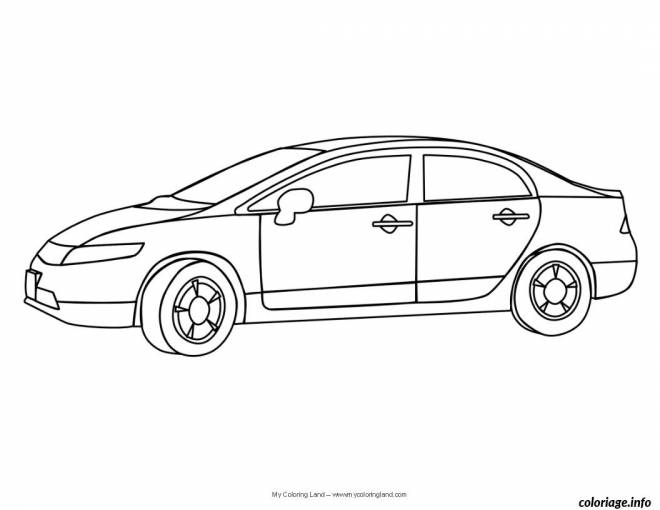 Free coloring and drawings A child automobile Coloring page