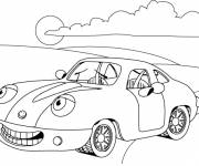 Coloring pages A comical outdoor car