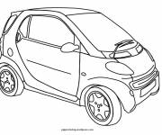 Free coloring and drawings A Mini car Coloring page