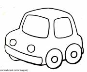 Coloring pages A simple car