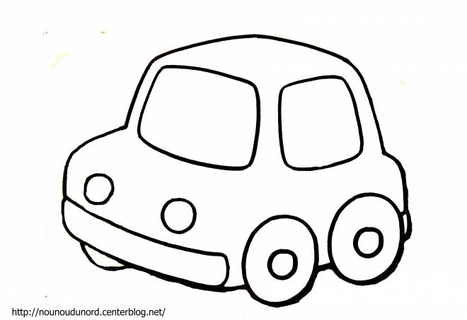 Free coloring and drawings A simple car Coloring page