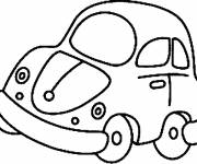 Free coloring and drawings A small car Coloring page