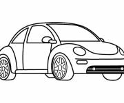 Free coloring and drawings A Volkswagen car Coloring page