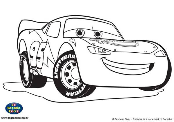 Free coloring and drawings Auto Flash Mcqueen Coloring page