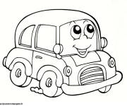Free coloring and drawings Automobile smiling Coloring page