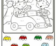Coloring pages Car and kids coloring