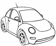 Coloring pages Car front view