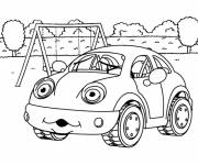 Coloring pages Car in the garden