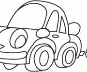 Free coloring and drawings Car is watching you Coloring page