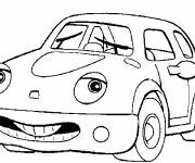 Coloring pages Car with a face