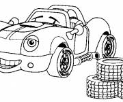 Coloring pages Car with smile on face
