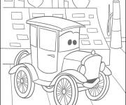 Coloring pages Cartoon child car