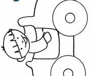 Coloring pages Child car coloring