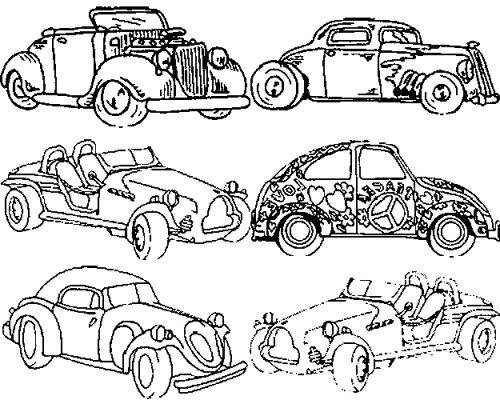 Free coloring and drawings Classic Cars Coloring page