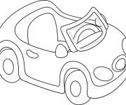 Coloring pages Convertible car for children