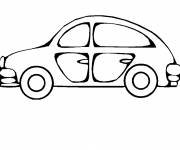 Free coloring and drawings Easy car to color Coloring page