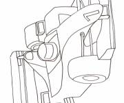 Coloring pages F1 Race Car