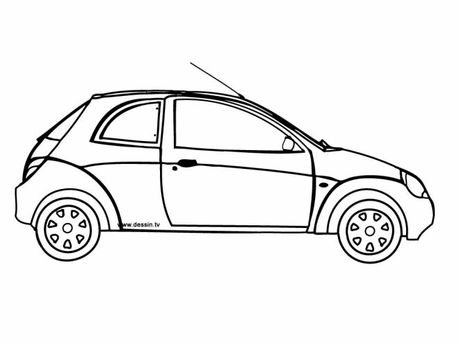 Free coloring and drawings Family car Coloring page
