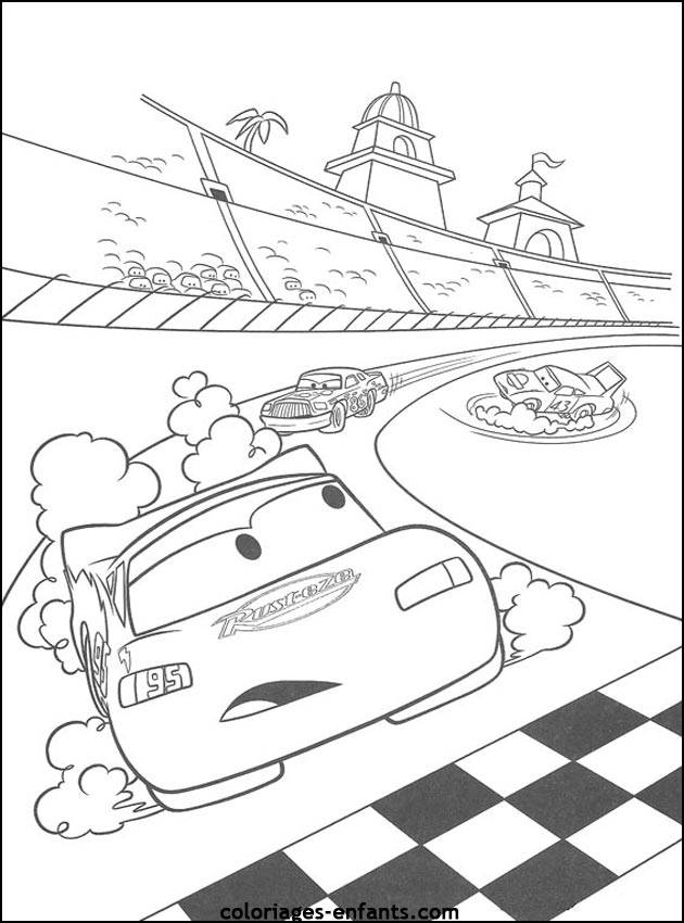 Free coloring and drawings Flash Mcqueen car in Nascar race Coloring page