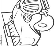 Coloring pages Ford boy car