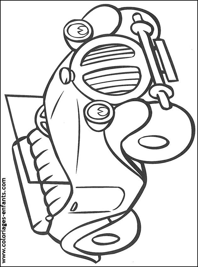 Free coloring and drawings Ford boy car Coloring page