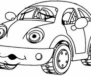 Coloring pages Humorous child car