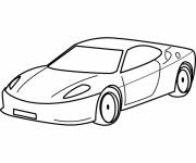 Coloring pages Luxury child car