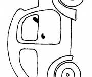Coloring pages Old model car
