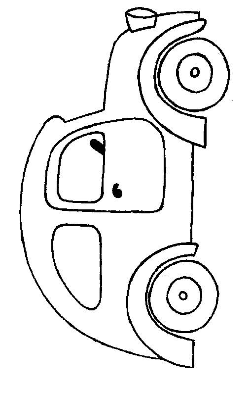Free coloring and drawings Old model car Coloring page