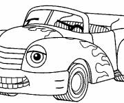Free coloring and drawings Smiling convertible car Coloring page