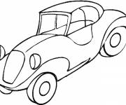 Coloring pages Stylized classic car
