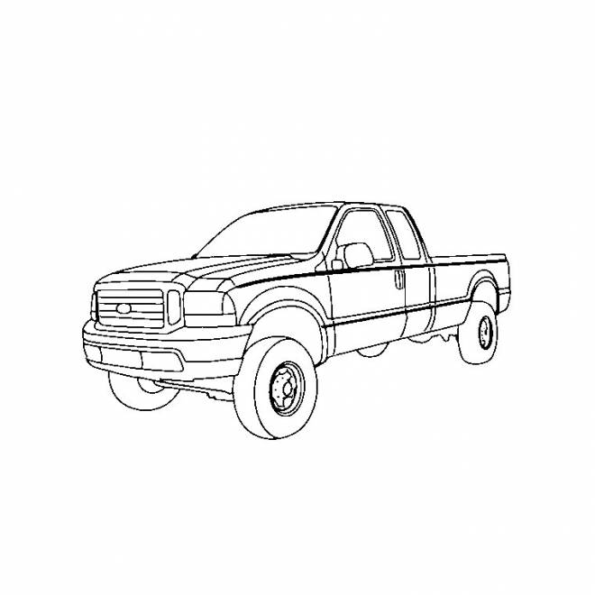 Free coloring and drawings 4 X 4 Pick up Coloring page