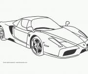Free coloring and drawings A beautiful race car Coloring page