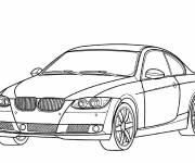 Free coloring and drawings Auto BMW M3 Coloring page
