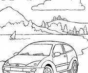 Coloring pages Automobile and Nature