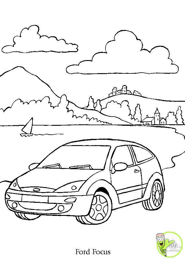 Free coloring and drawings Automobile and Nature Coloring page