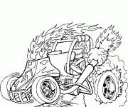 Coloring pages Burning car