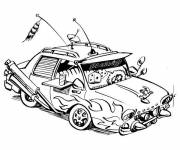 Coloring pages Car goes everywhere