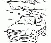 Coloring pages Car Landscape in Nature