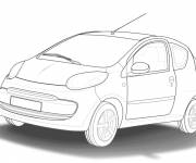 Coloring pages Car Tuning Vector