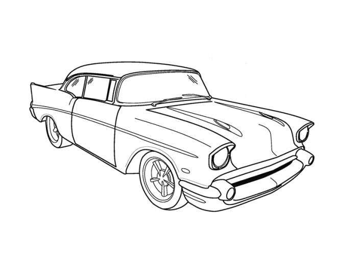 Free coloring and drawings Classic Chevrolet car Coloring page