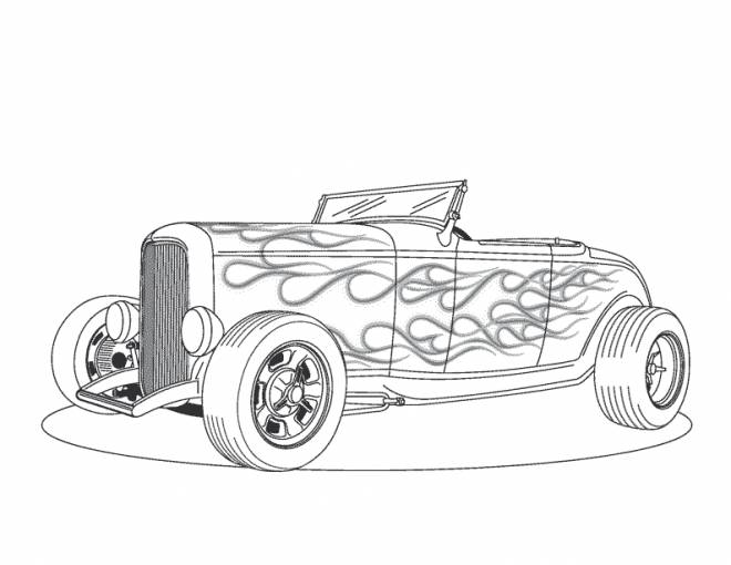 Free coloring and drawings Classic convertible car Coloring page